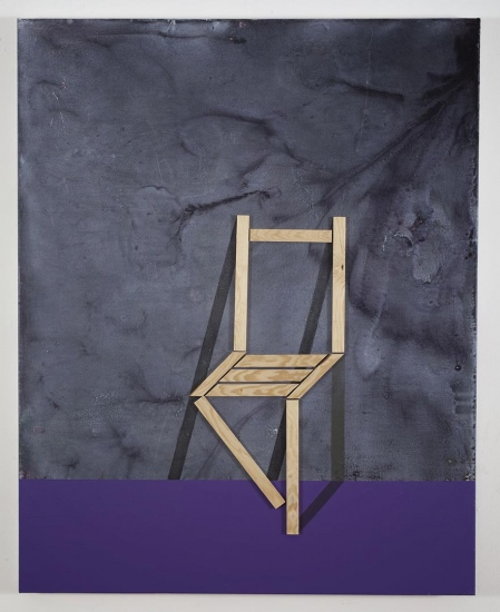 Paradoxical chair  / 2016 /  Acrylic paint and wooden strip on canvas / 100x80 cm each
