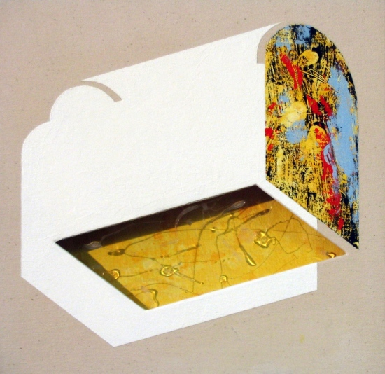 White chest / 2004 / Acrylic on canvas on wood plate and methacrylate  / 60x60x5 cm