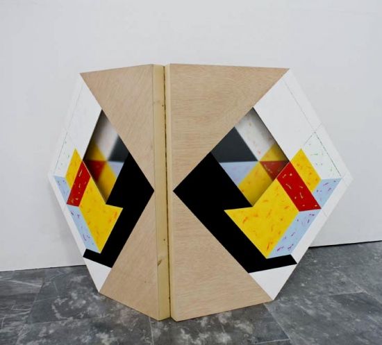 Butterfly room  / 2006 /  Acrylic on wood plate and methacrylate  / 150x82x5 cm