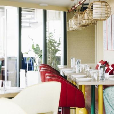 Fotografía de interiores del restaurante Baroz en Barcelona