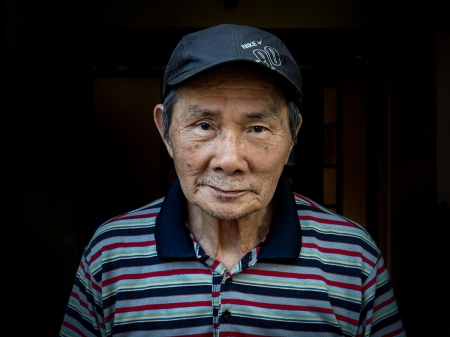 portrait of a cuban chinese in havana, one of the last natural chineses living in cuba