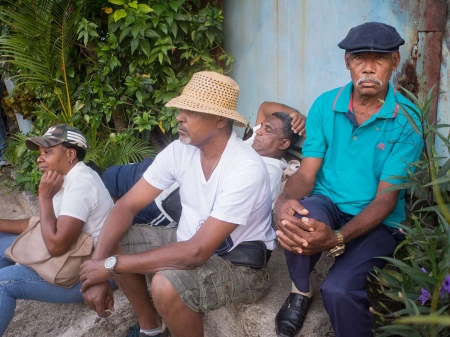 cuban workers resting in the first of may parade
