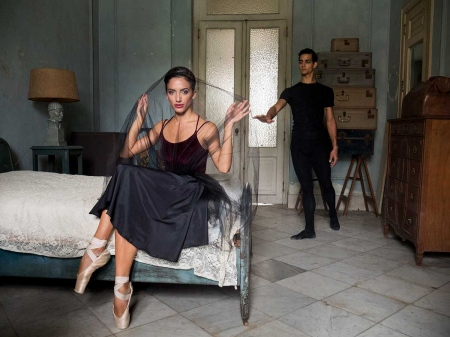 models and ballet dancers posing for a colonial cuban picture
