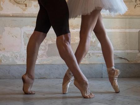 legs of cuban ballet dancers