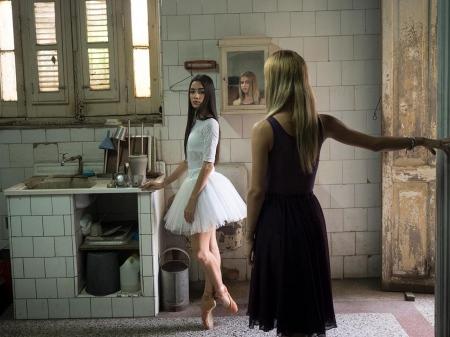 two ballet dancers in havana