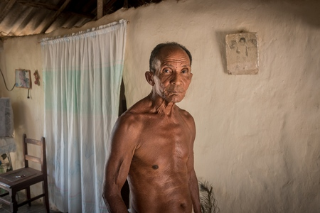 cuban man with native roots , anthropological photo of cuba