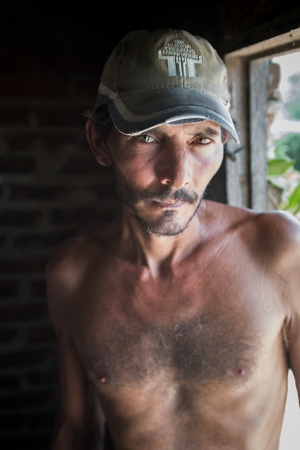 portrait of cuban man, anthropological photo of cuba