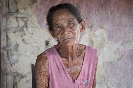 old cuban lady with indigenous traits
