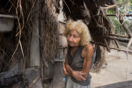 old cuban lady, native roots of tainos, anthropological photo of cuba