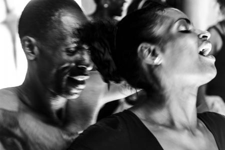 sexual tension between afrocuban dancers in Havana
