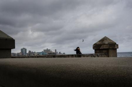 storm and solitude in havana, by louis Alarcon