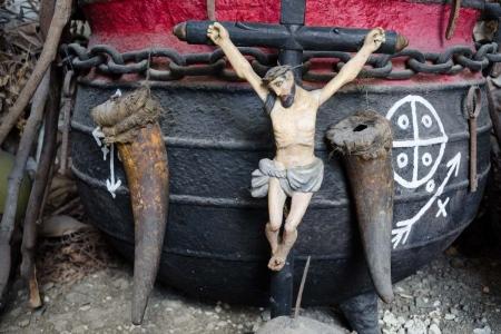 Jesus in an afrocuban altar, yoruba religion in cuba, photo by louis alarcon