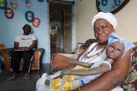 santeria in Havana, religious workshop of photography in cuba