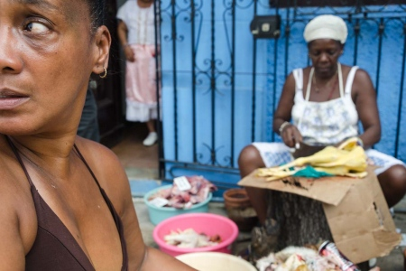 ceremony of afrocuban religion in a photo tour in cuba