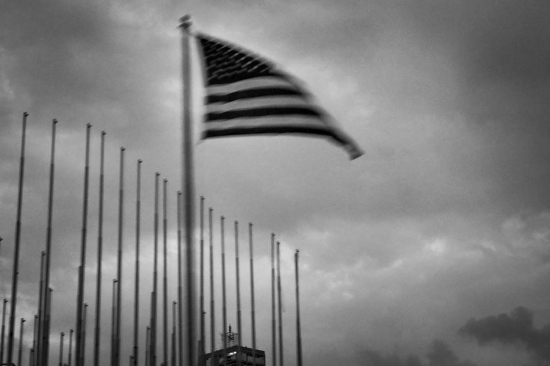 american flag in havana, cuban photography fine art by louis alarcon