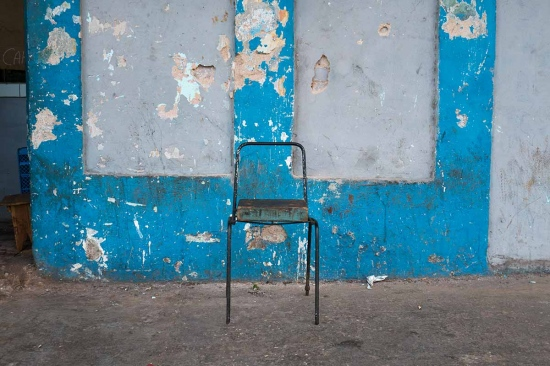 cuban chair in a lonely street, cuban photography