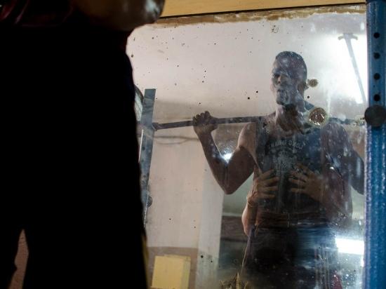 cuban strong man training in a gym , cuban photo