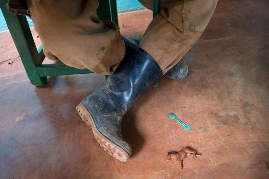 shoes of a farmer in cuba