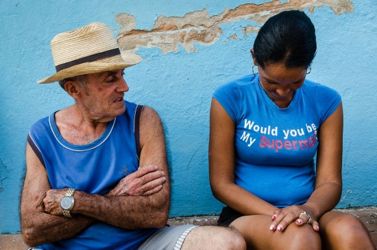 man and woman in Cuba, photo travelling around cuba