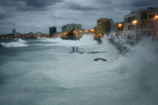 heavy storm in cuba malecon cuban photo