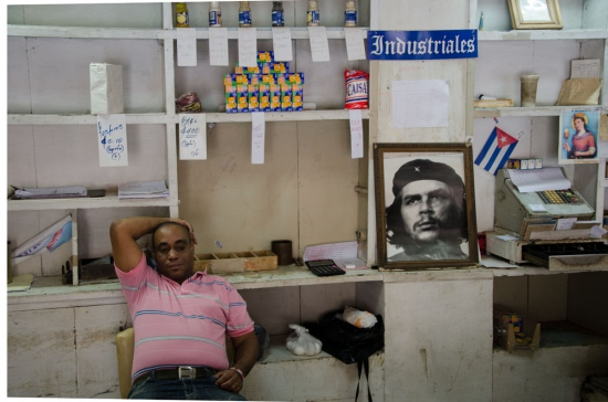 Che guevara picture,  street photography in cuba