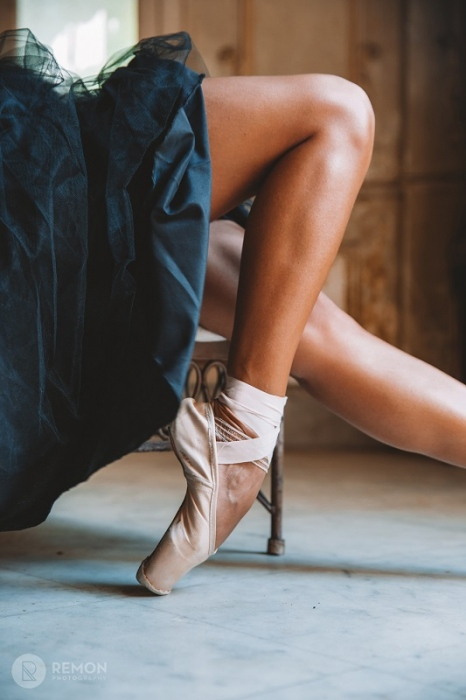 details of shoes of a cuban ballet dancer