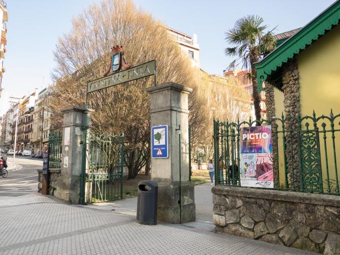 Entrada al parque Cristina Enea