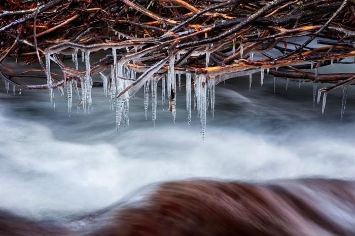 river, rio, hielo, ice, water, cold