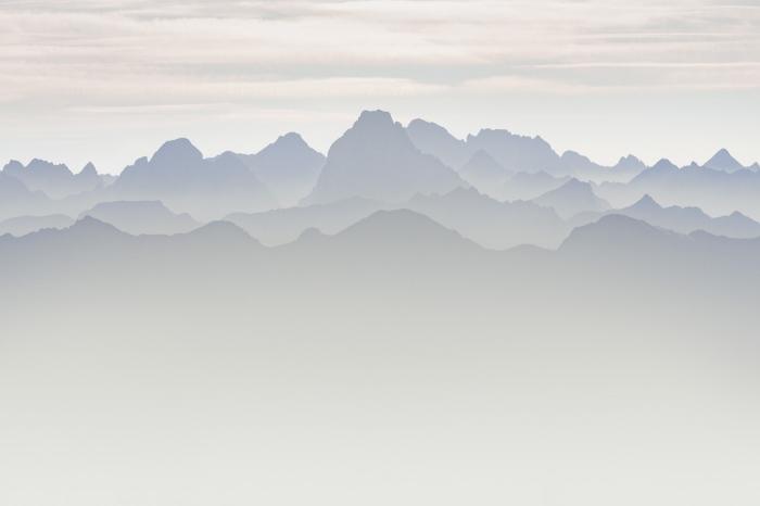 montaña, mountain, niebla, fog, Pixelecta
