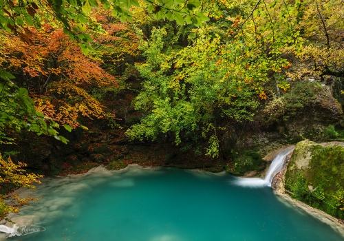Parque Natural de Urbasa, Nacedero Urederra, Navarra, Otoño
