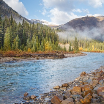 landscape, Canada, fall, kootenay national park, British Columbia, Numa falls