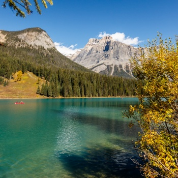 landscape, Canada, fall, Yoho national park, British Columbia, emerald Lake