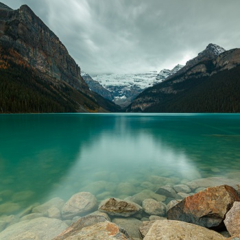 landscape, Canada, fall, national park, Alberta, Lake Louise