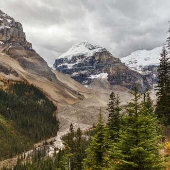 landscape, Canada, fall, national park, Alberta, Lake Louise, Plain of the six glaciers