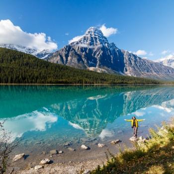 landscape, Canada, fall, national park, Alberta, Lake