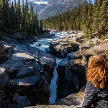 landscape, Canada, fall, national park, Alberta, Mistaya Canyon