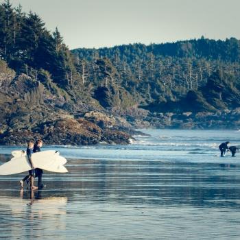 landscape, Canada, fall, Vancouver island, Toffino, Costa, Pacific ocean, British Columbia, surfers