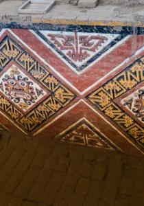 DSC_0009 Bloques de adobe decorado Patio Ceremonial del dios Aiapaec Huaca de la Luna