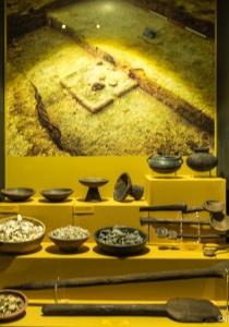 DSC_9831 Cucharones estan hechos de madera de algarrobo pertenecen a uno de los entierros Inca de la Huaca Larga