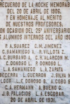 DSC_0447  Placa en Capilla del Milagro de la Dolorosa