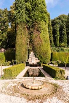 Fuente en Jardines de Generalife