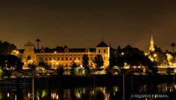 Palacio de San Telmo, Sevilla de noche