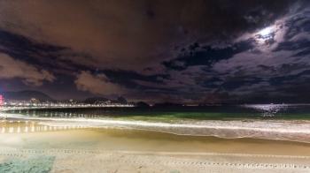 Playa de Ipanema de Noche