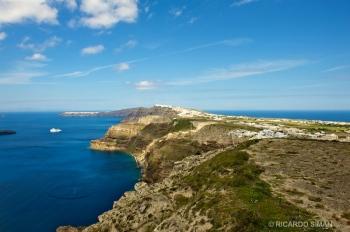 Paisaje Isla de Santorini, Grecia
