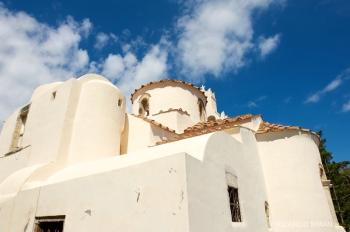 Iglesia Ortodoxa, Isla Santorini, Grecia.