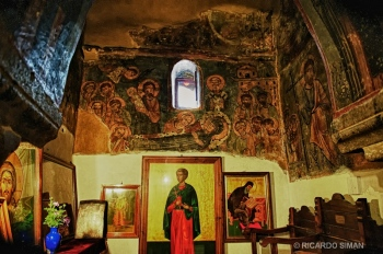 Mural en Iglesia Ortodoxa en Santorini, Grecia