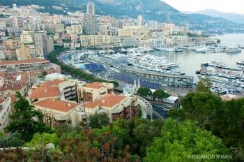 Ciudad de Mónaco y ruta del Grand Prix.