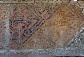 DSC_9987 Pinturas murales polícromas en la tumba de la Señora de Cao