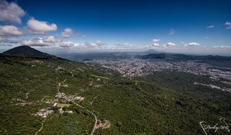 Panoramica Ciudad San Salvador, Lago de Ilopango , Volcán de San Vicente