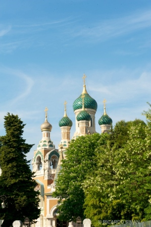 Iglesia Ortodoxa en Niza, Francia.
